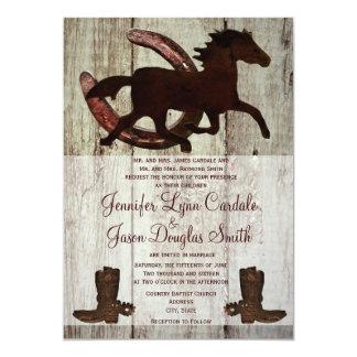 Invitaciones de herradura del boda del caballo de invitación