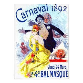 Invitaciones de Julio Cheret Carnaval Invitaciones Personales