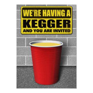 Invitaciones de Kegger Invitación 12,7 X 17,8 Cm