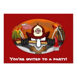 Invitaciones de Kilroy del bombero Invitación 12,7 X 17,8 Cm