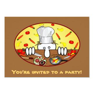 Invitaciones de Kilroy del cocinero Invitación 12,7 X 17,8 Cm