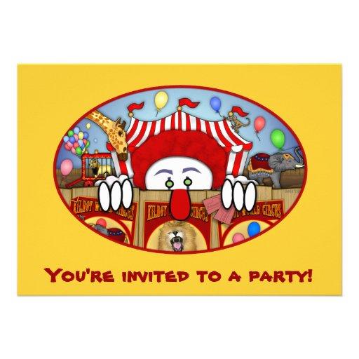 Invitaciones de Kilroy del payaso de circo Comunicados