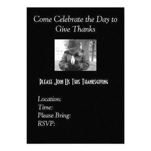 Invitaciones de la acción de gracias invitacion personalizada