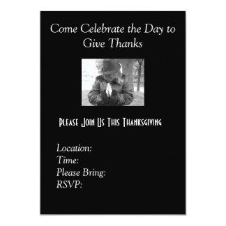 Invitaciones de la acción de gracias invitación 12,7 x 17,8 cm