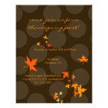Invitaciones de la acción de gracias, hojas de arc anuncio
