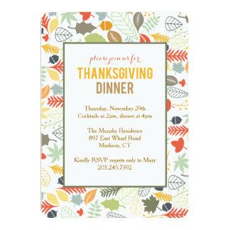 Invitaciones de la acción de gracias - hojas de la invitación 12,7 x 17,8 cm