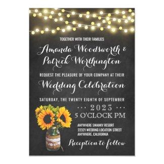 Invitaciones de la boda del país de la pizarra del
