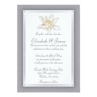 Invitaciones de la bodas de plata invitación 12,7 x 17,8 cm