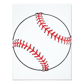 Invitaciones de la bola del béisbol invitación 10,8 x 13,9 cm