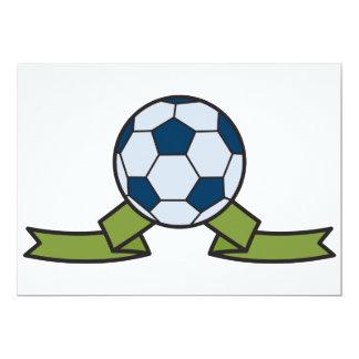 Invitaciones de la bola y de la cinta de fútbol invitación 12,7 x 17,8 cm