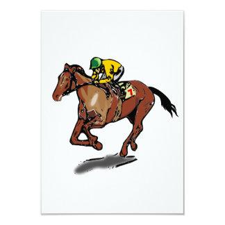 Invitaciones de la carrera de caballos invitación 8,9 x 12,7 cm