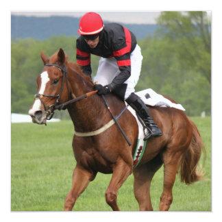 Invitaciones de la carrera de caballos del césped invitacion personal
