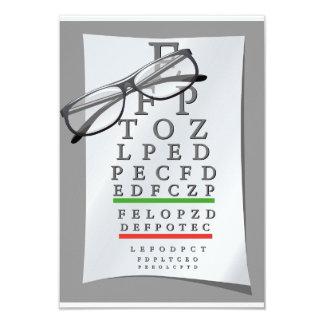 Invitaciones de la carta del optometrista invitación 8,9 x 12,7 cm