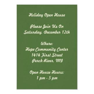 Invitaciones de la casa abierta de Santa del día Invitación 12,7 X 17,8 Cm