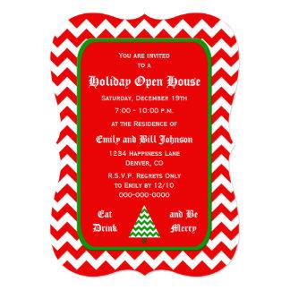 Invitaciones de la casa abierta del navidad de invitación 12,7 x 17,8 cm