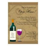 Invitaciones de la casa abierta, tema del vino