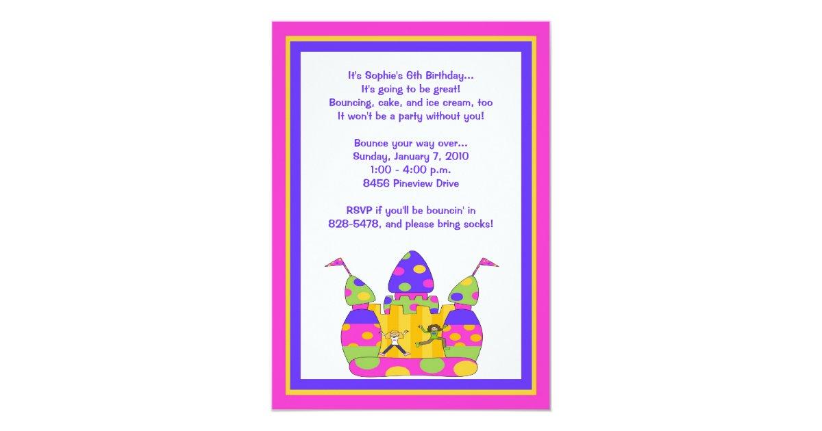 Invitaciones de la casa de la despedida chicas invitaci n for Diseno de casa de 7 x 17