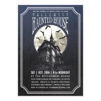 Invitaciones de la casa encantada de Halloween