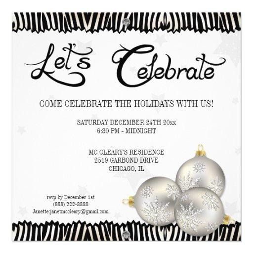 Invitaciones de la cebra de la celebración de días comunicados