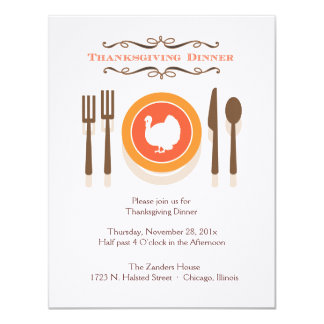 Invitaciones de la cena de la acción de gracias invitación