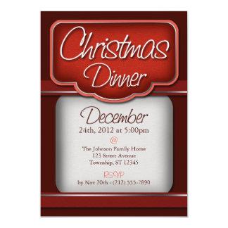 Invitaciones de la cena de navidad del terciopelo anuncio personalizado