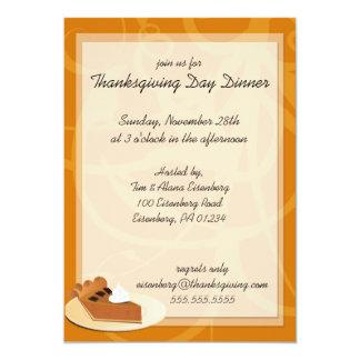 Invitaciones de la cena del día de la acción de comunicado personal