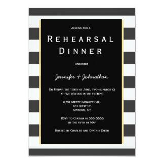 Invitaciones de la cena del ensayo de la raya
