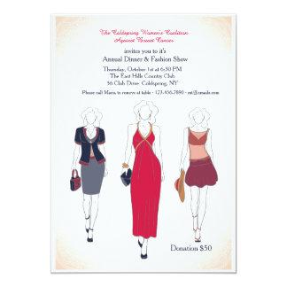 Invitaciones de la cena y del desfile de moda invitación 12,7 x 17,8 cm