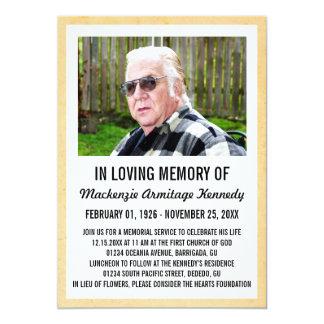 Invitaciones de la ceremonia conmemorativa o del