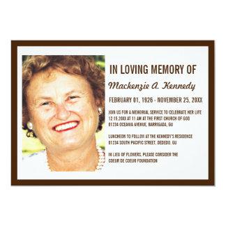 Invitaciones de la ceremonia conmemorativa o del comunicados personalizados