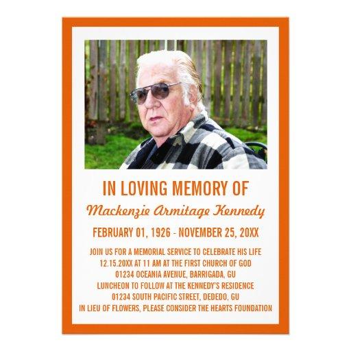 Invitaciones de la ceremonia conmemorativa o del e invitaciones personales