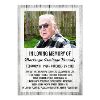 Invitaciones de la ceremonia conmemorativa o del e comunicados personalizados