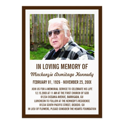 Invitaciones de la ceremonia conmemorativa o del e comunicado personalizado