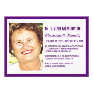 Invitaciones de la ceremonia conmemorativa o del e comunicados