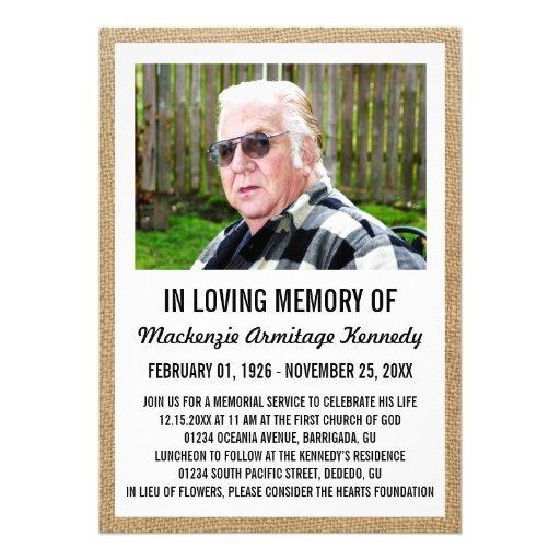 Invitaciones de la ceremonia conmemorativa o del e invitacion personalizada