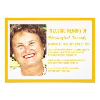 Invitaciones de la ceremonia conmemorativa o del e invitación