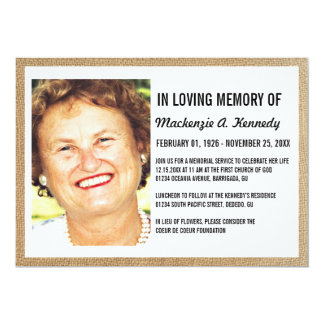 Invitaciones de la ceremonia conmemorativa o del invitación 12,7 x 17,8 cm