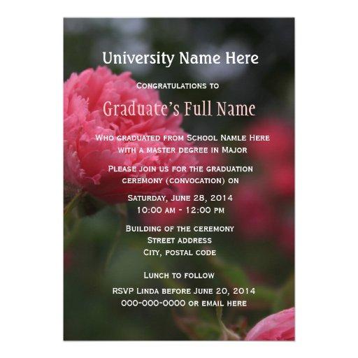 High School Graduation Ceremony Invitations