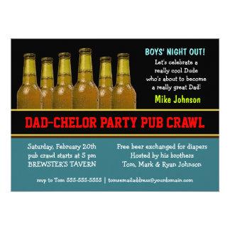 Invitaciones de la cerveza del pañal del arrastre  comunicados personales