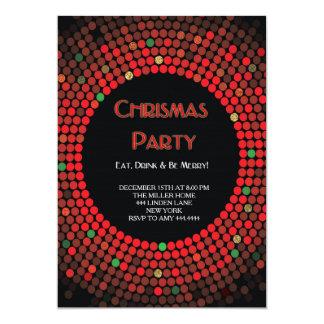 Invitaciones de la chispa de la fiesta de Navidad Invitación 12,7 X 17,8 Cm