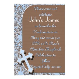 Invitaciones de la confirmación de los MUCHACHOS Invitación 12,7 X 17,8 Cm