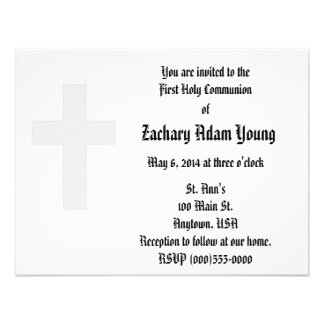 Invitaciones de la cruz comunicado personal