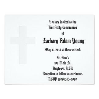 """Invitaciones de la """"cruz"""" invitación 10,8 x 13,9 cm"""