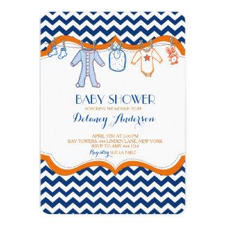 Invitaciones de la cuerda para tender la ropa de invitación 12,7 x 17,8 cm