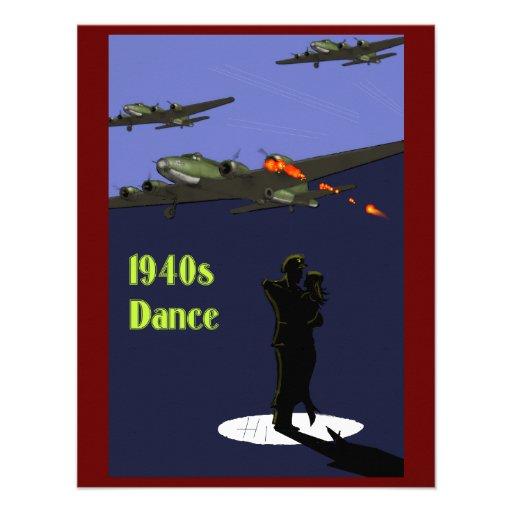 invitaciones de la danza de los años 40 invitación