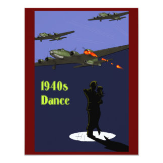 invitaciones de la danza de los años 40 invitación 10,8 x 13,9 cm