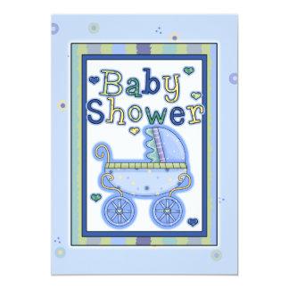 Invitaciones de la ducha del carro del bebé del invitación 12,7 x 17,8 cm