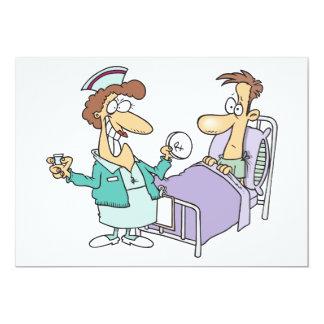 Invitaciones de la enfermera y del paciente invitación 12,7 x 17,8 cm