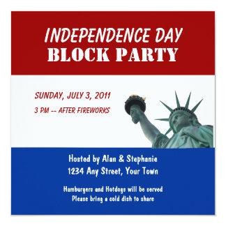 Invitaciones de la fiesta de barrio de señora invitación 13,3 cm x 13,3cm