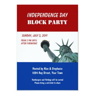 Invitaciones de la fiesta de barrio de señora invitación 12,7 x 17,8 cm